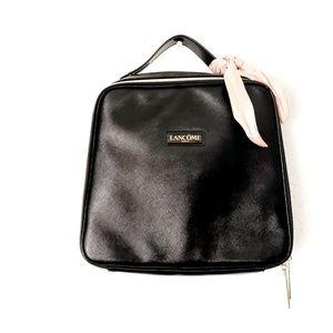 Lancome Paris Black Traincase Cosmetic Travel Bag